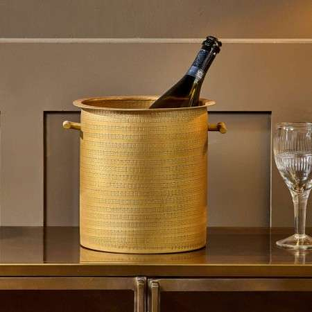 Nalgora Antique Brass Wine Cooler from Accessories for the Home