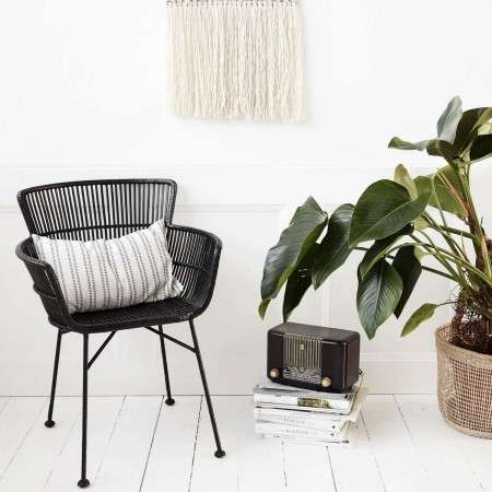 Cuun Black Rattan Dining Chair from Accessories for the Home