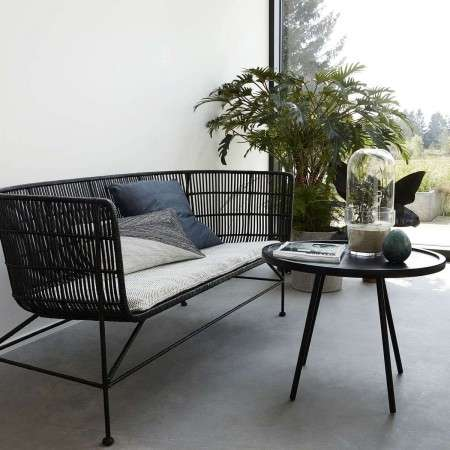 Cuun Black Rattan Sofa from Accessories for the Home