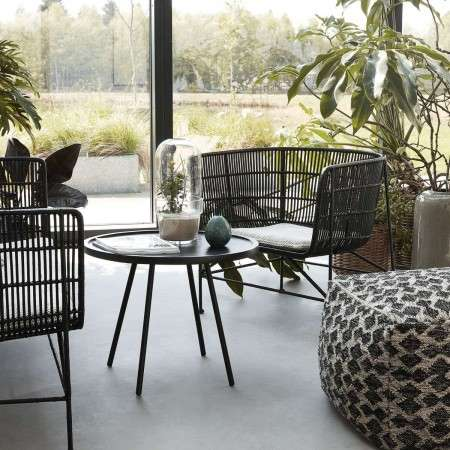 Cuun Black Rattan Armchair from Accessories For The Home