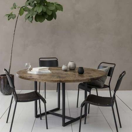 Kant Round Mango Wood Dining Table from Accessories for the Home
