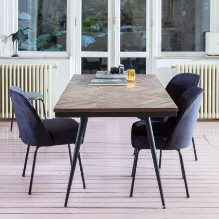 Rhombic Recycled Teak Dining Table from Accessories for the Home