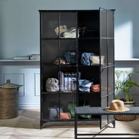 Nordal Downtown Large 2 Door Iron Display Cabinet from Accessories for the Home