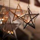 Antique Brass Glass Stars