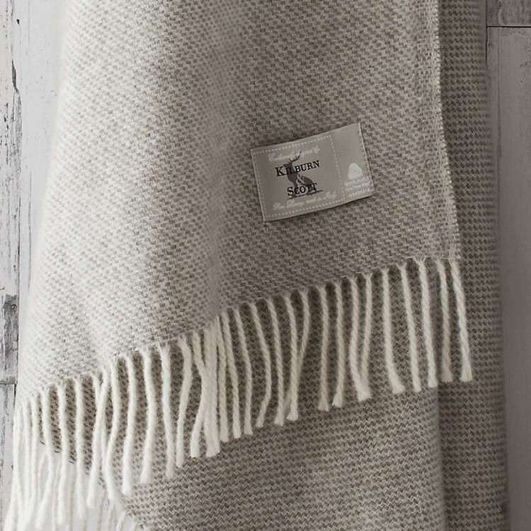 Pure Wool Weave Throw - Natural