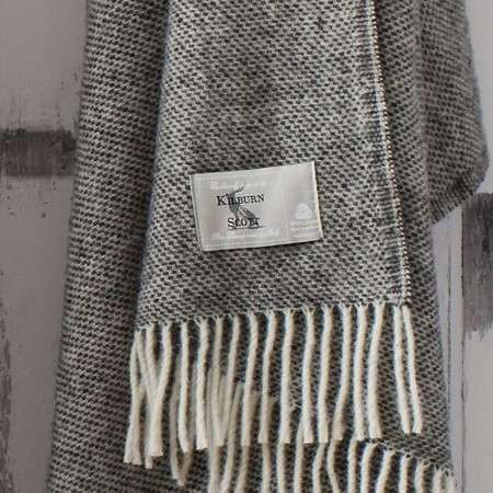 Pure Wool Weave Throw - Athracite
