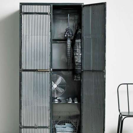 Nordal Downtown Raw Metal Clothes Cabinet