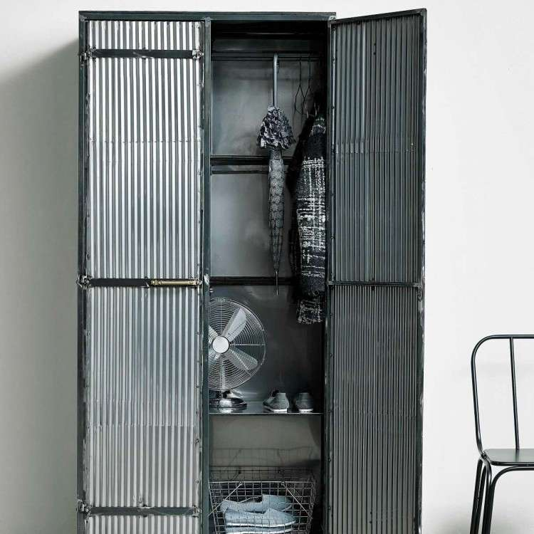 Nordal Downtown Raw Metal Clothes Cabinet from Accessories for the Home