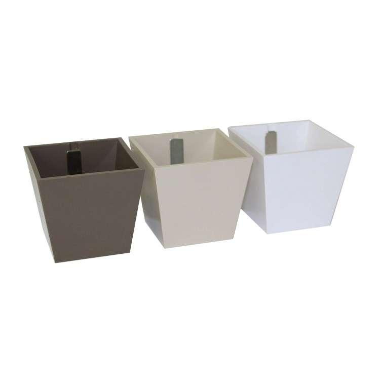 Kalamitica - Set of 3 Cubes Brown