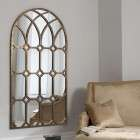 Ketura Bronze Arched Window Mirror from Accessories for the Home