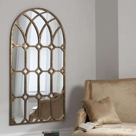 Ketura Bronze Arched Window Mirror
