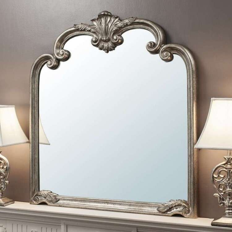 Pisa Silver Overmantel Mirror from Accessories for the Home