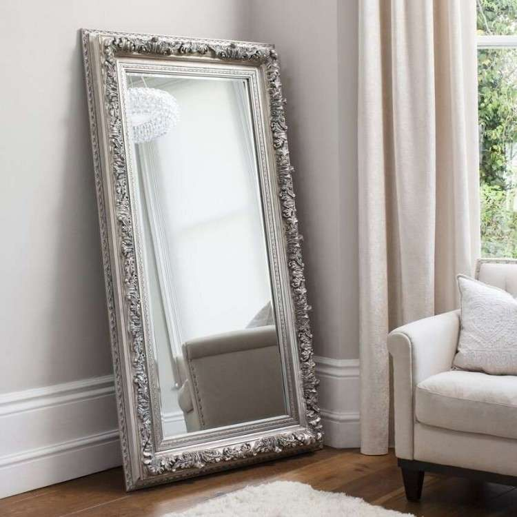 Adeline Silver Leaner Mirror from Accessories for the Home