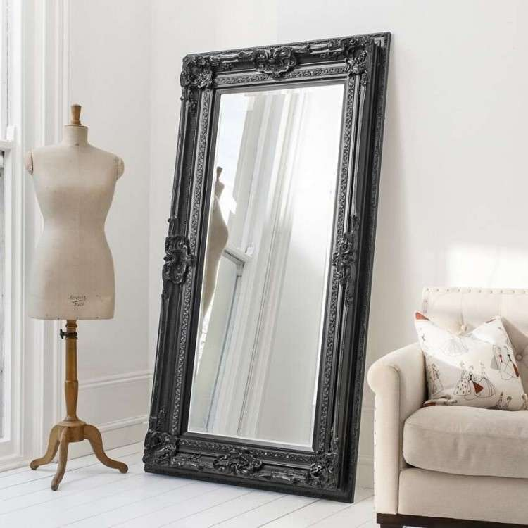 Vertou Leaner Mirror Black or Silver from Accessories for the Home