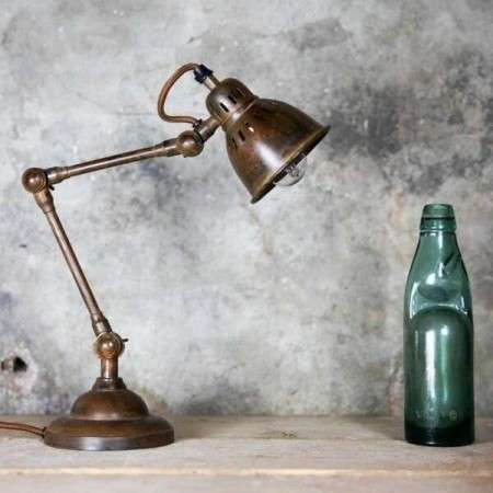 Tubu Antique Brass Adjustable Desk Lamp