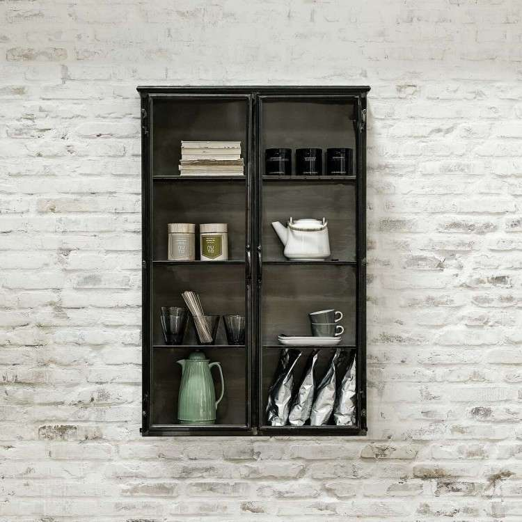 Nordal Downtown Tall Iron Wall Cabinet from Accessories for the Home