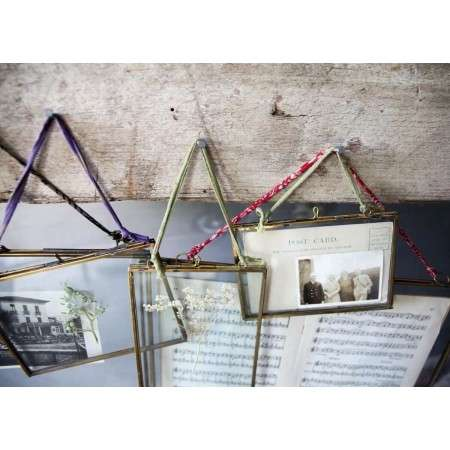 Kiko Brass Glass Frame from Accessories for the Home