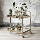 Nordal Brass 3 Wheeled Trolley from Accessories for the Home