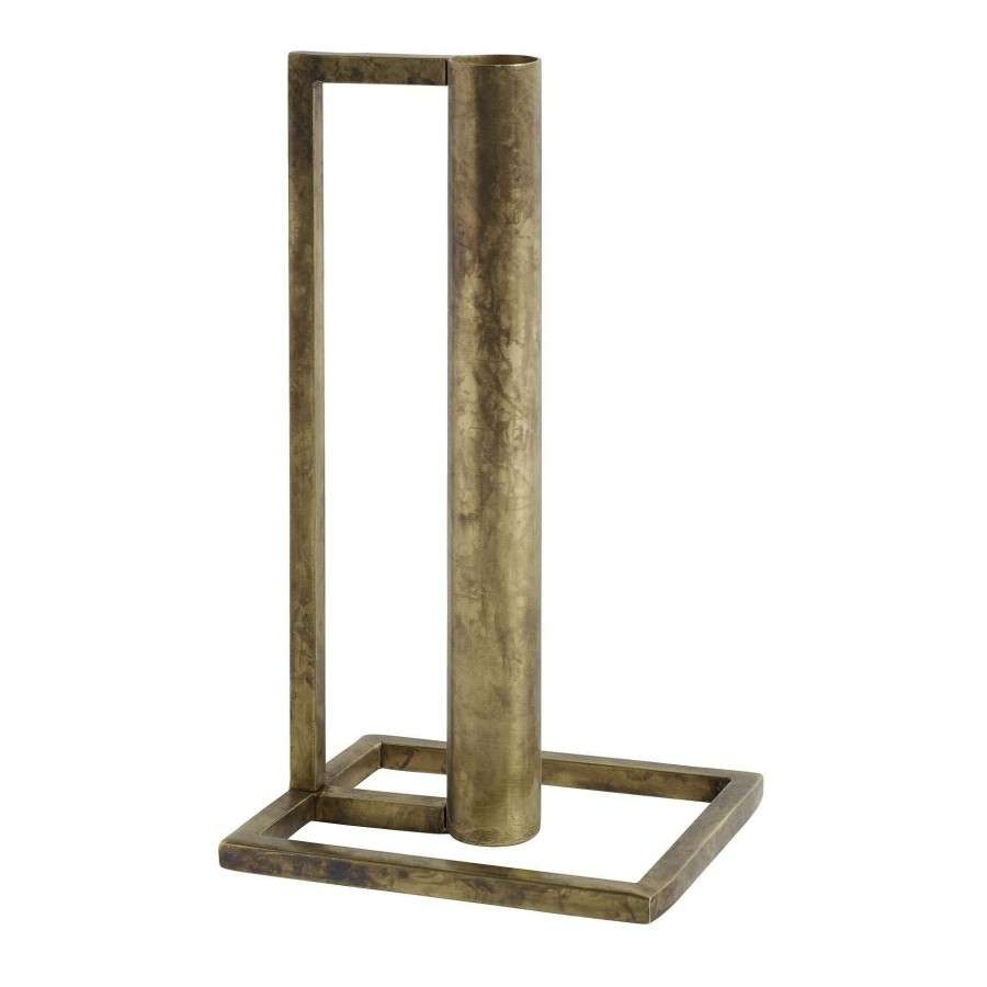 Home Decor Candle Holders And Accessories: Cubic Antique Brass Candle Holder From Accessories For The