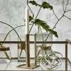Nordal Cubic Antique Brass Candle Holder from Accessories for the Home