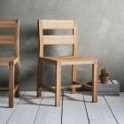 Aurland Solid Oak Dining Chair from Accessories for the Home