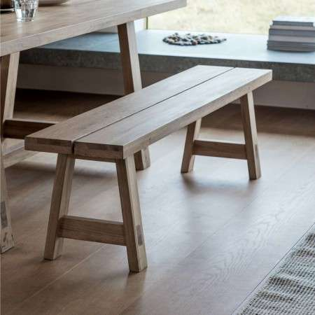 Aurland Solid Oak Dining Bench