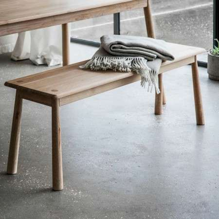 Laholm Solid Oak Dining Bench