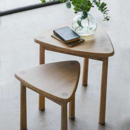 Laholm Solid Oak Nest of Two Tables from Accessories for the Home