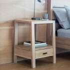 Aurland Oak Bedside Table from Accessories for the Home