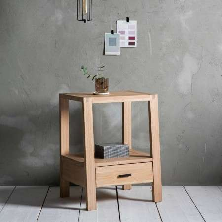 Aurland Oak Bedside Table