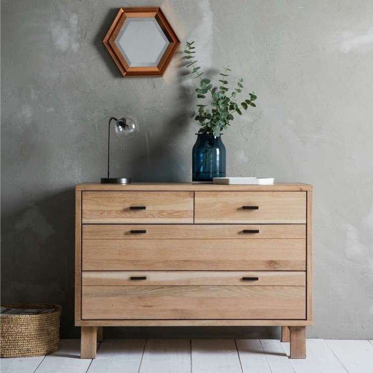 Aurland 4 Drawer Oak Chest from Accessories for the Home