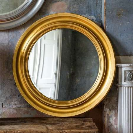 Turin Luxurious Gold Leaf Cameo Mirror from Accessories for the Home