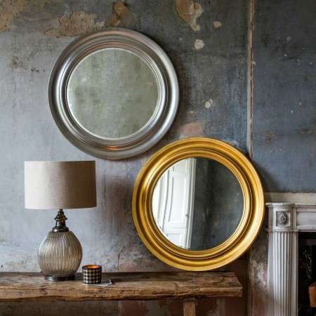 Turin Luxurious Gold Leaf Cameo Mirror