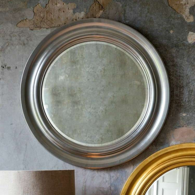 Turin Bright Silver Leaf Cameo Mirror from Accessories for the Home