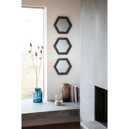 Garfield Set of 3 Hexagonal Wall Mirrors from Accessories for the Home