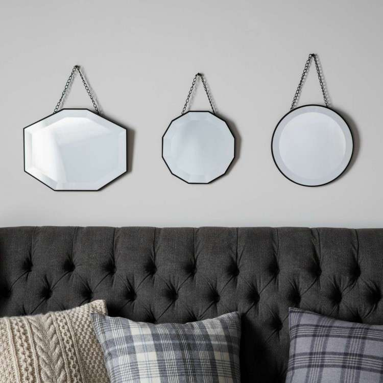 Orsen Set of 3 Hanging Wall Mirrors from Accessories for the Hme