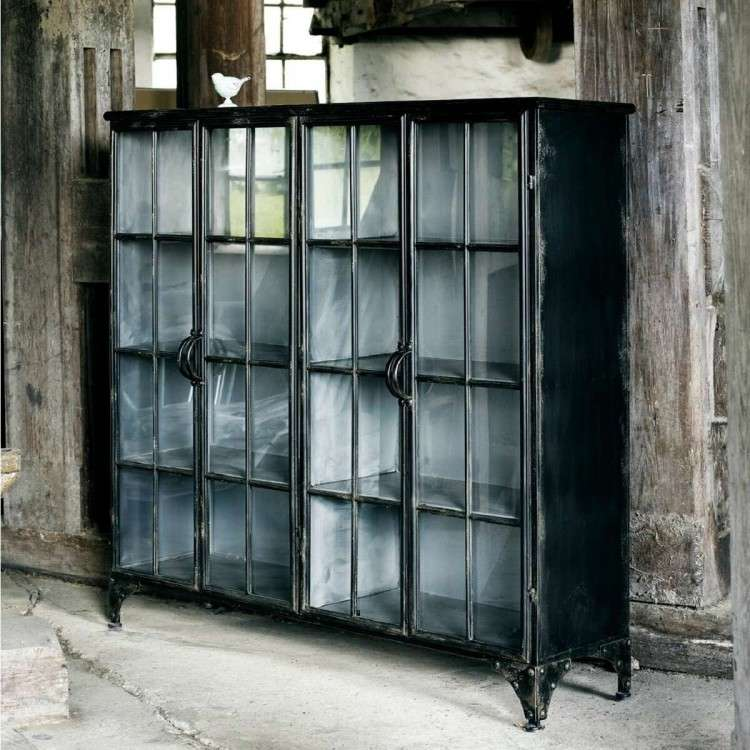 Nordal Downtown Large 4 Door Iron Display Cabinet from Accessories for the Home