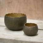 Antique Gold Etched Pots from Accessories for the Home