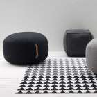 Charcoal Grey Wool Pouffe from Accessories for the Home