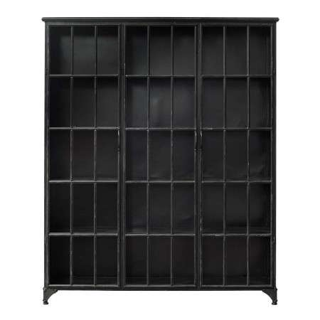 Nordal Downtown Large 3 Door Iron Display Cabinet