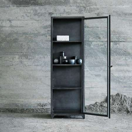 Muubs Iron & Glass Industrial Style Cabinet 180cm High