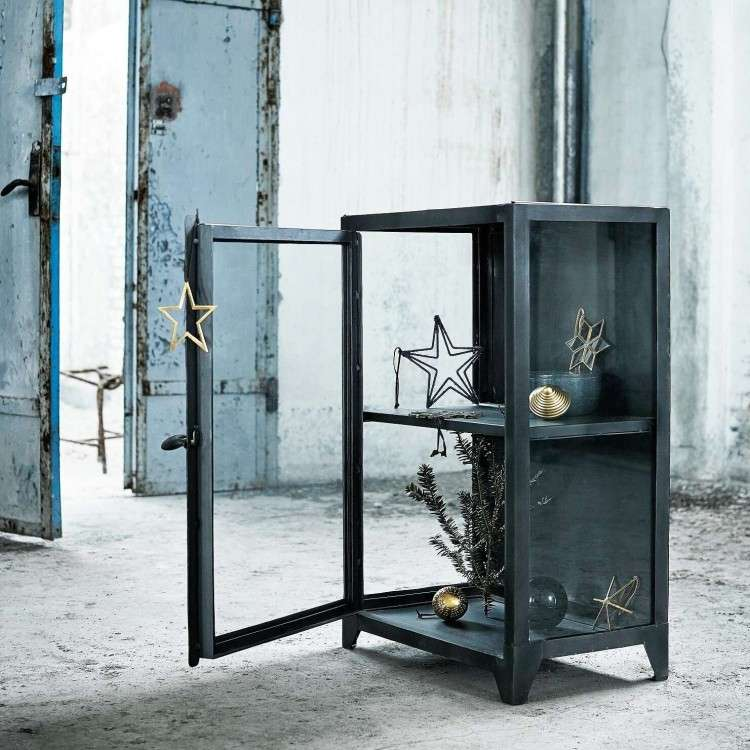 Muubs New York Iron and Glass Low Cabinet from Accessories for the Home