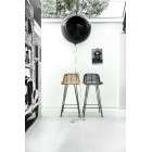 HK Living Rattan Bar Stool Black from Accessories for the Home