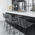 Rattan Bar Stool Black from Accessories for the Home