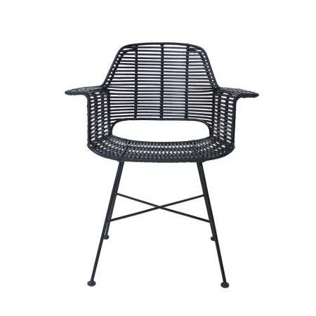 HKLiving Rattan Tub Chair Black from Accessories for the Home