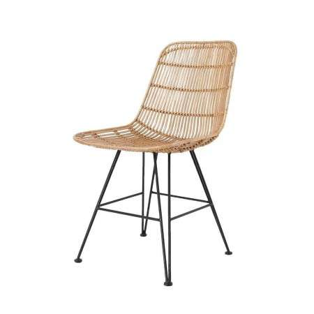 HKLiving Set of 2 Rattan Dining Chair Natural from Accessories for the Home