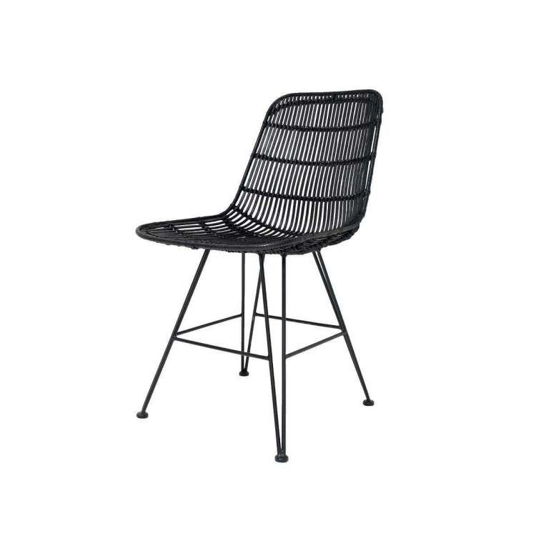 HKLiving Black Rattan Dining Chair - Set of 2 from Accessories for the Home