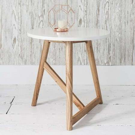 Hamar Round Side Table Grey or White
