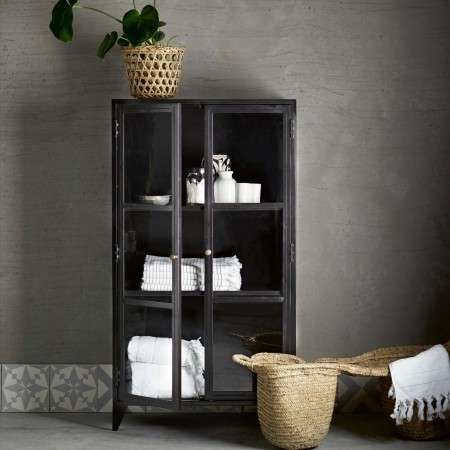 Tinekhome Black Metal Display Cabinet from Accessories for the Home
