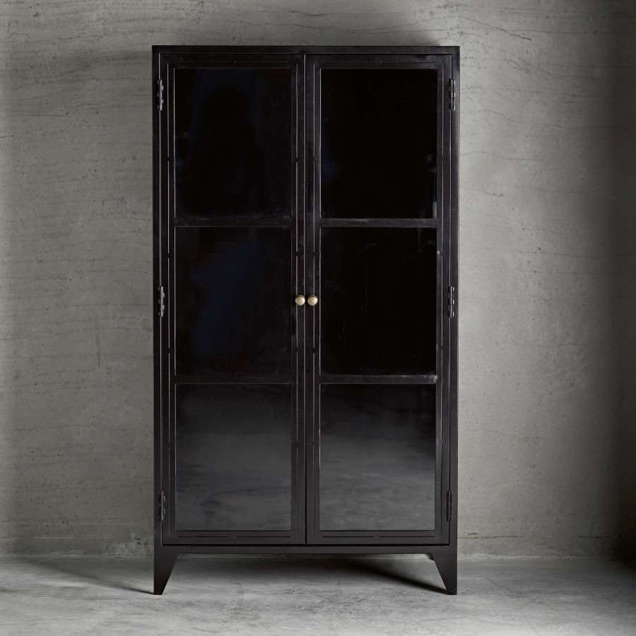 Metal Black Kitchen Cabinets: Black Metal Display Cabinet From Accessories For The Home
